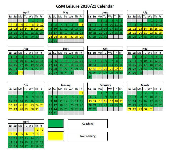 GSM Calendar 2020/2021