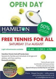 Hamilton Tennis Club - Open Day (AM)