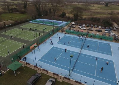 Rothley Ivanhoe Tennis Club ariel view