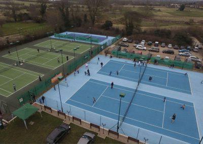 Rothley Ivanhoe Tennis Club ariel view