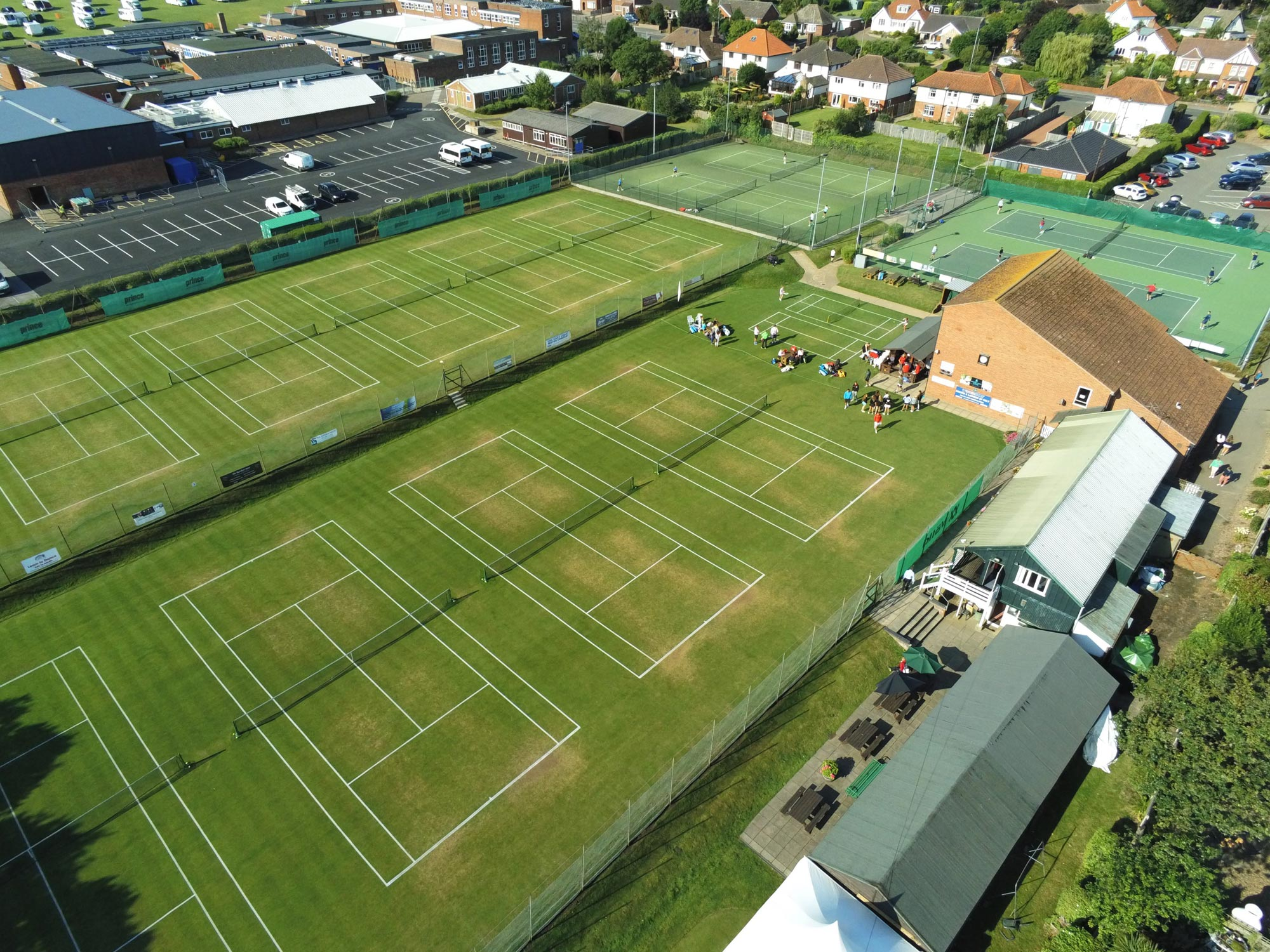 Cromer Tennis Tournament - from the air