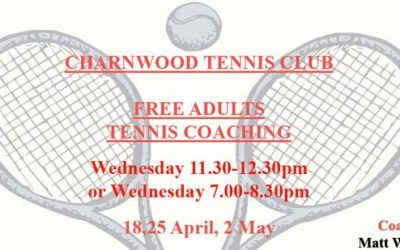 Adult Tennis Coaching @ Charnwood Tennis Club