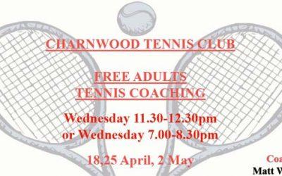Adult Tennis Coaching @ Charnwood Tennis Club