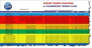 charnwood squads dates sheet