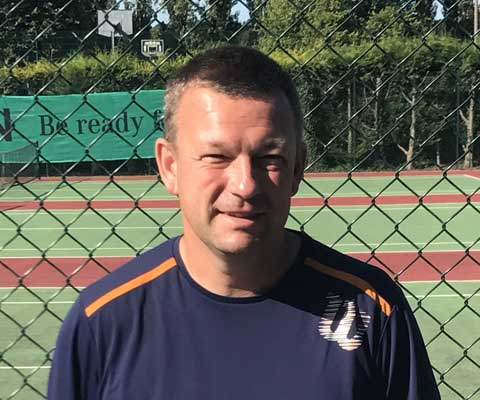 Matt Wilford - Head Coach Charnwood Tennis Club