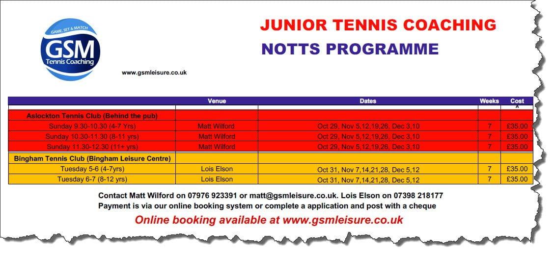 notts autumn tennis programme