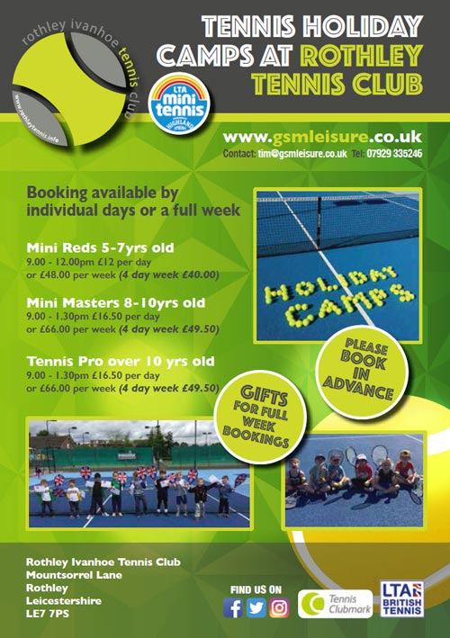 rothley tennis camps